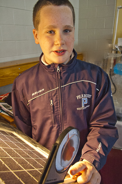 JJ Jalbert demonstrates his solar electric model