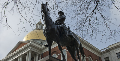 Hooker statue at State House
